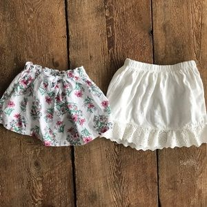 Set Of Two 24mo skirts from Carter's & Crazy 8's